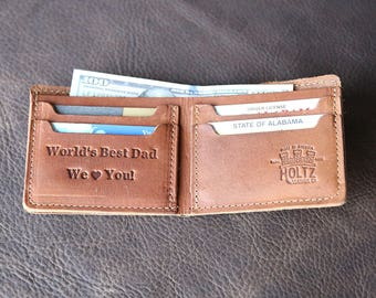 The Big Dixie Fine Leather Bi-Fold Wallet - Father's Day Gift, Gift for Dad, Gift for Husband, Father's Day, Gifts for Him