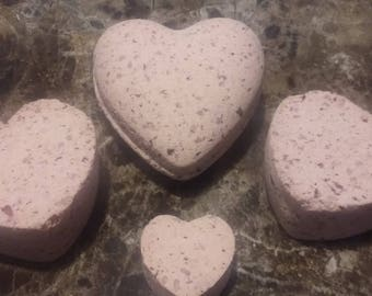 Scented Heart Shaped Bath Bomb!
