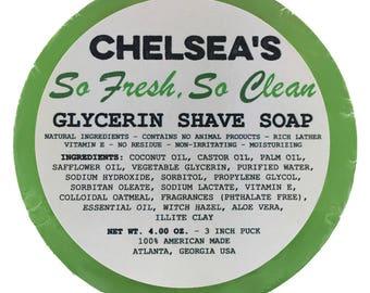Chelea's So Fresh, So Clean Shaving Soap