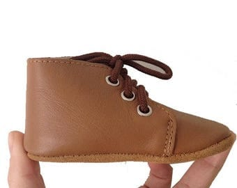Oxford booties baby shoes