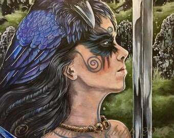 """NEW A4 """"Morrigan and Ravens"""" Print"""