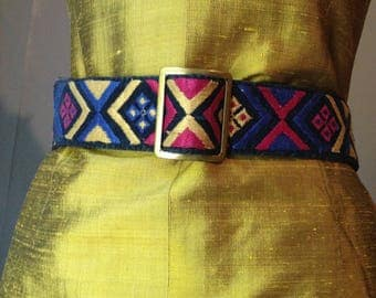 Boho Ethnic embroidered belt
