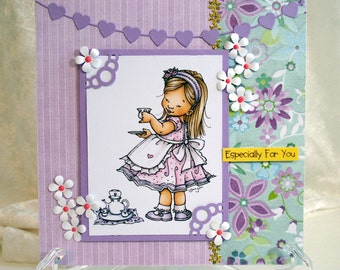 Girls Birthday/Any occasion card/ Mo Manning card