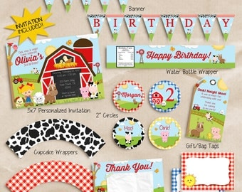 Farm birthday party decorations, farm party decorations, farm birthday decorations, FARM DECORATIONS