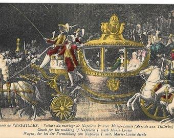 Musee de Versailles, Palace of Versailles, France, Antique 1910 Unused Color Postcard, Mme Moreau, Edit., Versailles.