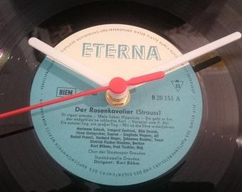Uhr aus Schallplatte ETERNA blau  LP Vinyl Deko Wall Clock Time