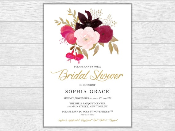 Bridal shower, bridal shower, bridal shower invitation, wedding, wedding invitation, printable invite, digital download, wedding shower