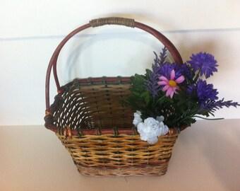 Old Vintage Primitive Aged Basket