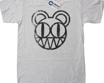 Radiohead Kid A Bear T Shirt Rock Music Band Thom Yorke Grey  Small to XXL