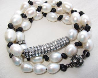 Convertible Pearl Wrap Bracelet -OR- Necklace!