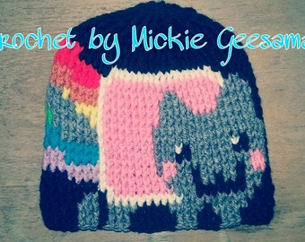 Crochet Nyan Cat Beanie