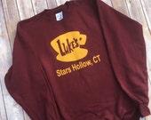 Luke's Diner Sweatshirt - Gilmore Girls Sweatshirt - Stars Hollow - Lorelai – Rory - Luke's Diner - Coffee - Gilmore Girls