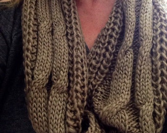 Sage green cowl ~scarf infinity~neck warmer