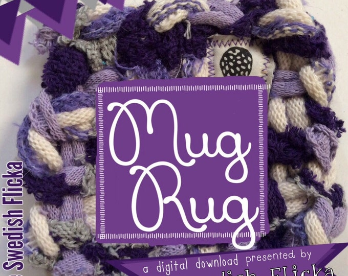 How to make a Mug Rug,Potholder Loom,PDF only, Mug Rug instructions,The Swedish Flicka,Tutorial,Potholder,Loopers, Loops, Weaving, Coasters