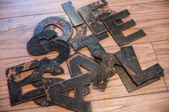 Rustic Metal Letters And Numbers Gorgeous Rustic Metal Letters And Numbers Recycled Steel Rusty Finish Inspiration Design