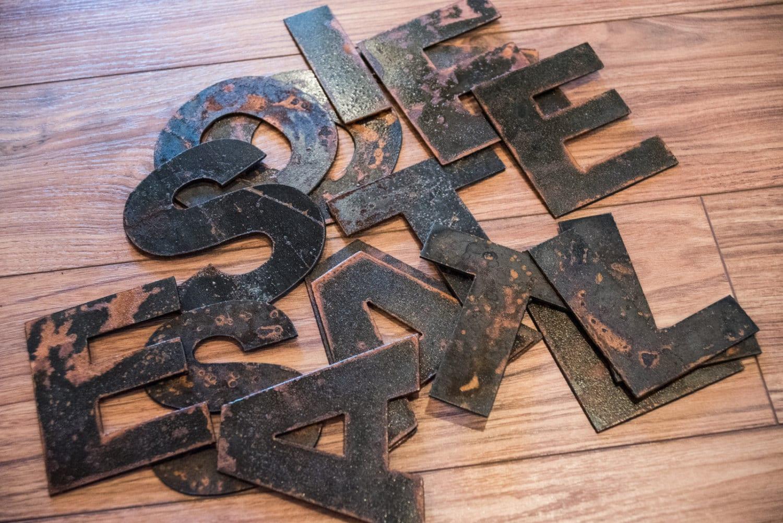 Rustic Metal Letters And Numbers Rustic Metal Letters And Numbers Recycled Steel Rusty Finish