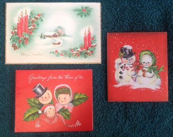 Vintage Christmas cards ( set )