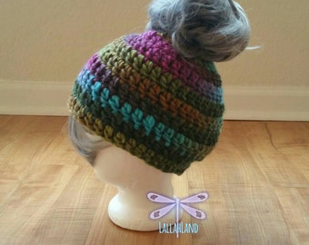 New Trendy Messy Bun Beanie/Hat Made to Order Any Color/Any Size Affordable & Competitive Prices (Includes elastic Tie for.thicker hair)