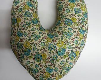 Mastectomy Post OP surgery Comfort Pillow Cushion Heart Shaped Liberty Of London.