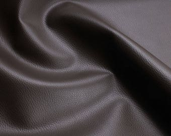 Fabric PVC nappa deep brown leatherette 22.000 Martindale