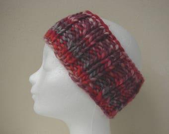 knit ear warmer pink purple girls chunky head warmer size 6-11 yrs warm comfortable knit thick yarn head band girl princess warm colors girl