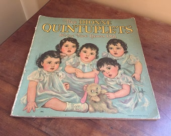 1936 The Dionne Quintuplets Book/Vintage Baby Book