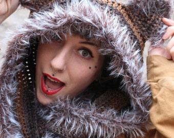 CUSTOM Feeling Feline crochet hood // kitty hood // animal ears
