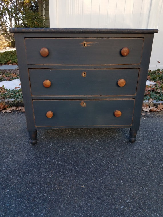Hand Painted Distressed Small Rustic Dresser - LOCAL PICKUP/DELIVERY Only