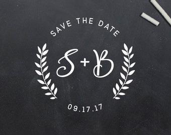 Personalized Save The Date Stamp, Save The Date Design, Gift For New Couple, Wedding Envelope, Wedding Invitation (S095)