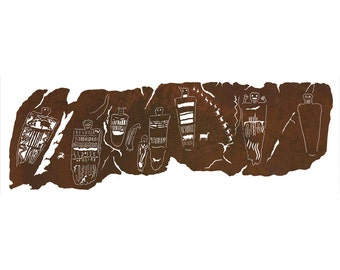 """Native American """"The Great Gallery"""" HUGE 7ft! Laser cut wall art 84""""x 27.5"""""""