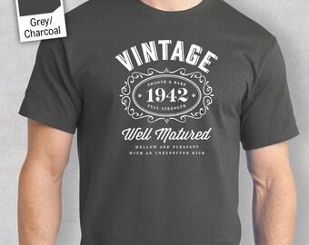 75th Birthday, 1942 Birthday, 1942 Legend. Men's T-shirt, 75th Birthday Gift, 75th Birthday Idea, 75 Birthday Present, 75 Birthday Gift!