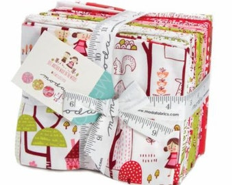 SALE!! Fat Quarter Bundle Just Another Walk Into the Woods by Stacy Iset Hsu for Moda- 23 Fabrics- Doll Panel INCLUDED!