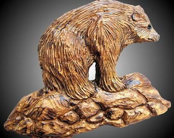 Grizzly Bear Version 3 Wall Sculpture