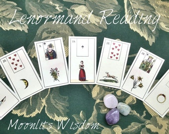 One Question, Lenormand Reading, Traditional Divination Reading, 3 Card Quick Reading, Cartomancy, Oracle Reading, Intuitive Guidance