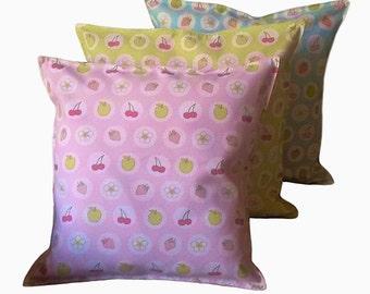 "Cushion Covers Ashley Wilde Soft Furnishing 100% Cotton 20"" x 20""  ""Elmer Bluebell, Lime, Pink               FREEPOST UK"
