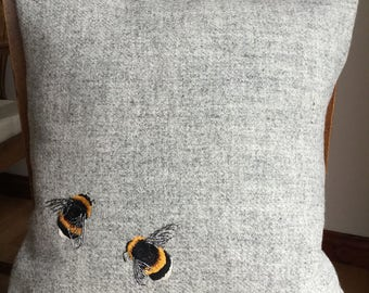 Bumble Bees  Harris Tweed (please read description before purchasing)