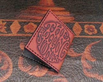 Rolling Stones Wallet - Bifold Wallet - Leather Wallet -  handmade by American Made Upgrades