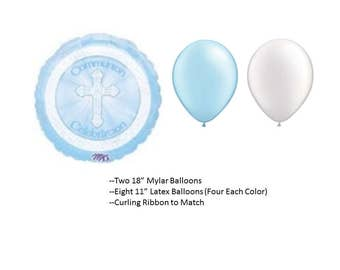 First Holy Communion Balloon Set, 1st Communion Celebrate Balloons