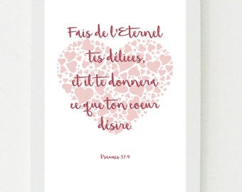 Digital Art / Bible verse Psalms 37: 4 What your heart desires