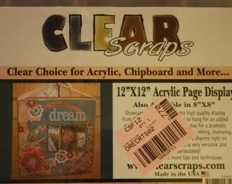 Clear Scrapbooking Frame