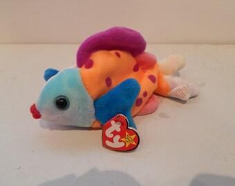 Vintage Ty Beanie Baby Lips the Fish Plush Bean Bag