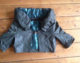 Leather jacket bolero
