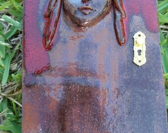 FAERY DOOR Fairy Garden Outdoors Pottery Ceramic Terracotta