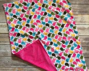 Bird Minky Baby Blanket
