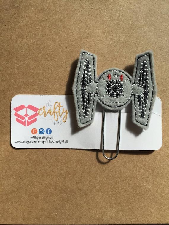 Fighter Planner Clip/Bookmark. Star Wars planner clip