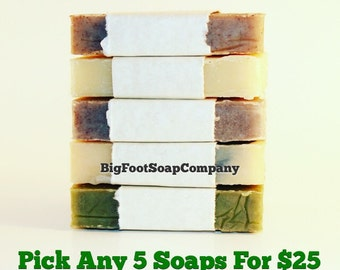 You Pick 5 Deal - Natural Cold Process Soap