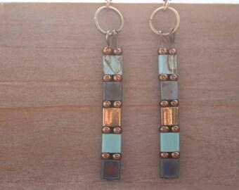 earrings long boho style  beaded earrings long beaded boho earrings bohemian gypsy chic dangle earrings gift for her trendy jewelry