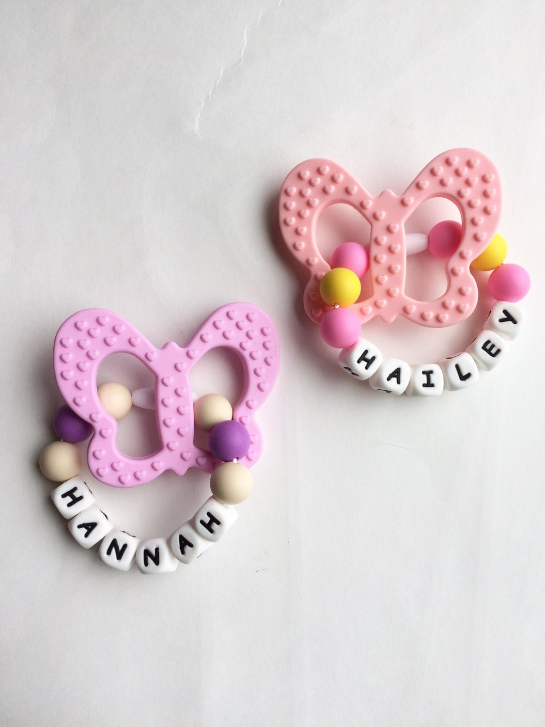 Butterfly Teething Ring Personalized Teether Silicone Baby