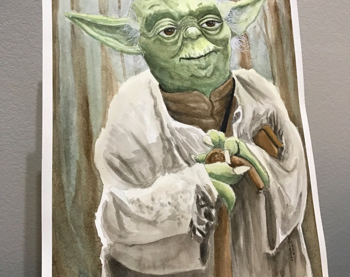 Featured listing image: Yoda Print