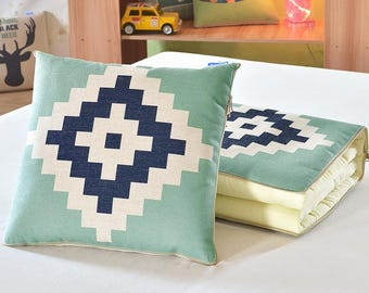 2 in1  Quilted Throw Pillows Sofa Cushions Couch Cushions
